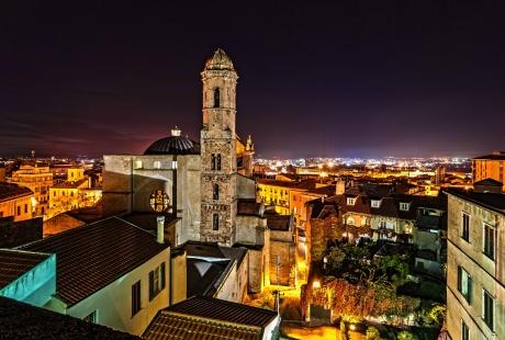 Panorama notturno di Sassari