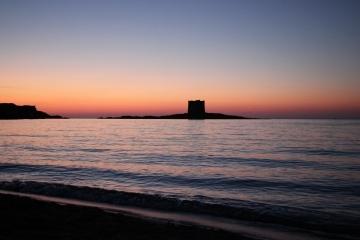 Torre della Pelosa al tramonto
